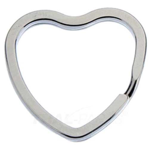 Schlüsselringe flach, Herzform