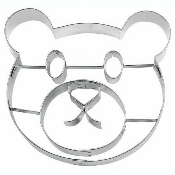 Präge-Ausstechform Teddygesicht aus Edelstahl