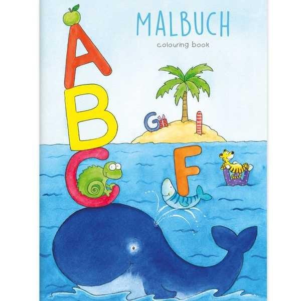 Malbuch Alphabet DIN A4, 16 Seiten