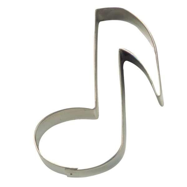 Präge-Ausstechform Musik Note aus Edelstahl