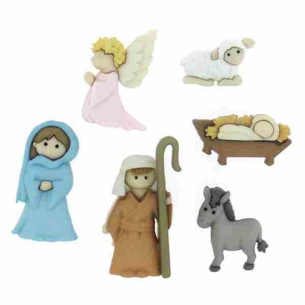 Dress it up Knöpfe, Nativity 6-tlg.