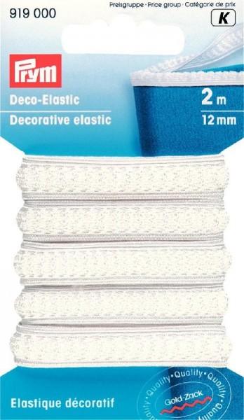Deco-Elastic 12mm weiß, 2m von PRYM 919000
