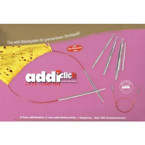 addi-click LACE Stricknadel-Set Lange Nadeln