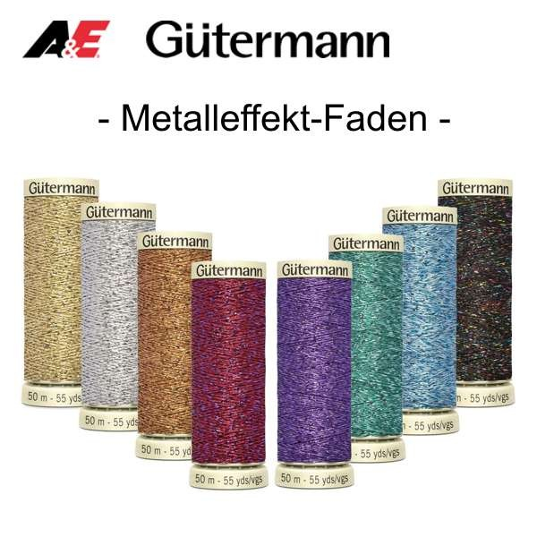 Metalleffekt Faden W331  ✓ Qualität von Gütermann ✓ hohe Kundenzufriedenheit ✓ funkeldes Glitzergarn ✓ Versandkostenfrei DE / LU (ab 20€)