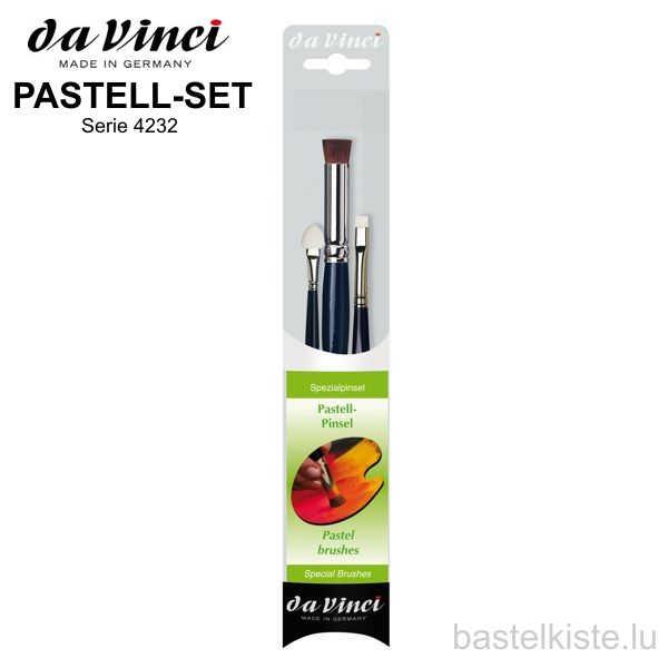 Da Vinci 3-teiliges Pastell-Pinselset, Serie 4232