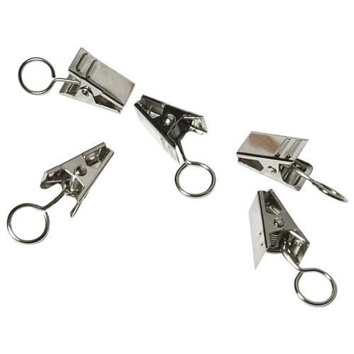 Metall-Clips Ø 18mm mit Öse, 18 Stück