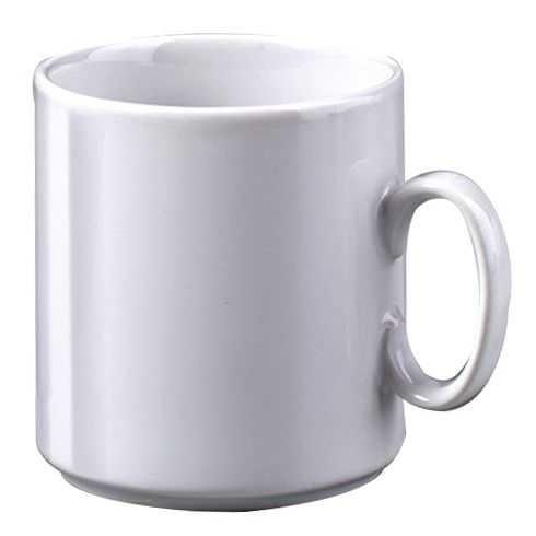 Tasse Keramik Ø 7,5cm H 10 cm, 300 ml weiß