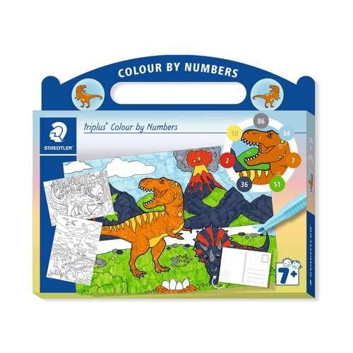 "Kartonkoffer triplus Colour by Numbers ""Dinos"""