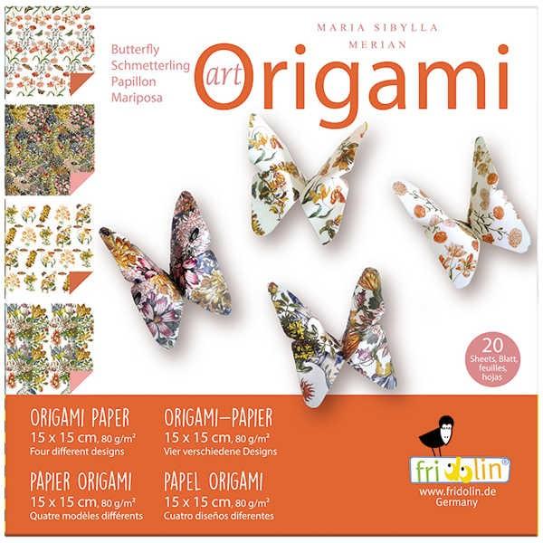 """Origami Faltblätter 80g/m² 15x15cm - 20 Blatt """"Merian"""""""