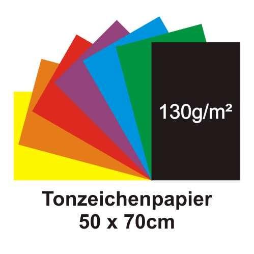 Tonzeichenpapier 50 x 70 cm, 130g/m²