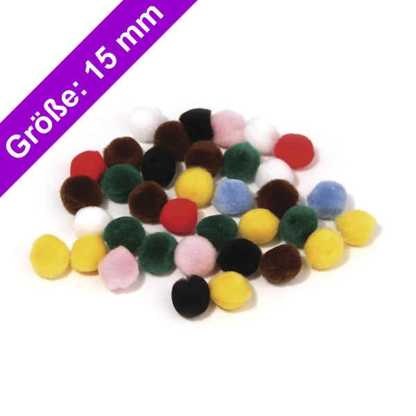 Rayher Pompons 15mm 76512 wollzauber
