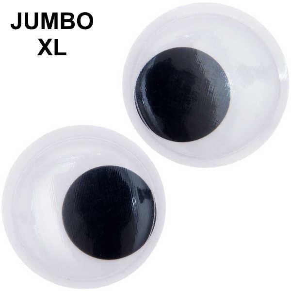 JUMBO XXL Wackelaugen rund 2 Stück, Ø 70mm