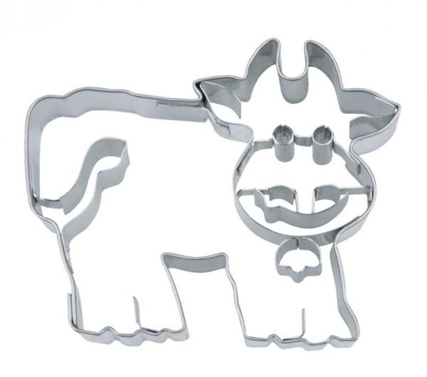 Präge-Ausstechform Kuh 7 cm aus Edelstahl