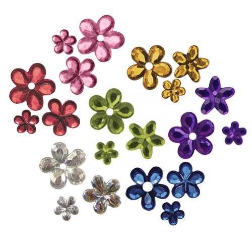 Acryl Strassblüten Sortiment mit ca. 310 Stück
