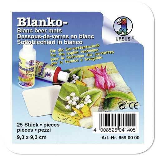 Blanko-Bierfilze, Bierdeckel 9,3x9,3cm