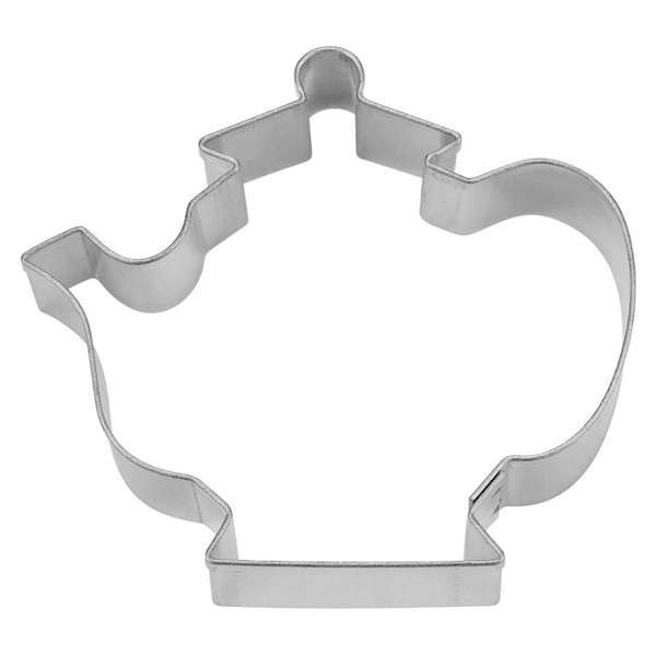 Präge-Ausstechform Teekanne 6,5 cm aus Edelstahl