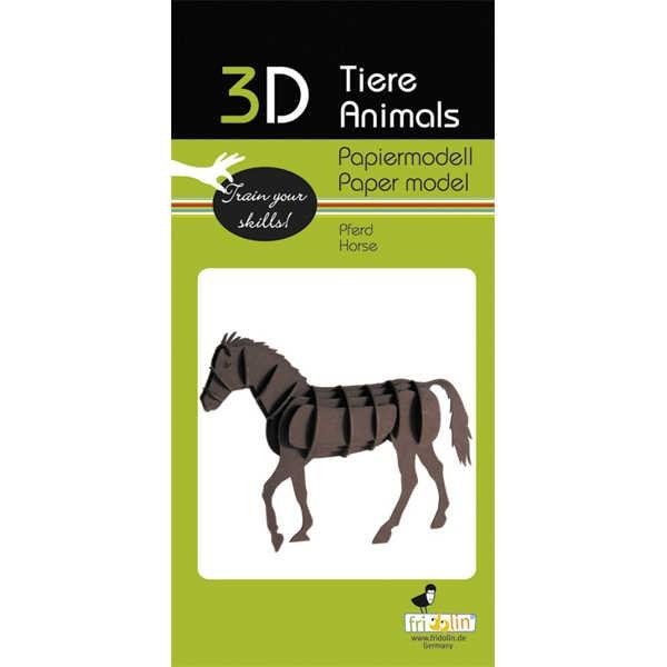 "3D Papiermodell ""Pferd"" zum zusammenbauen"