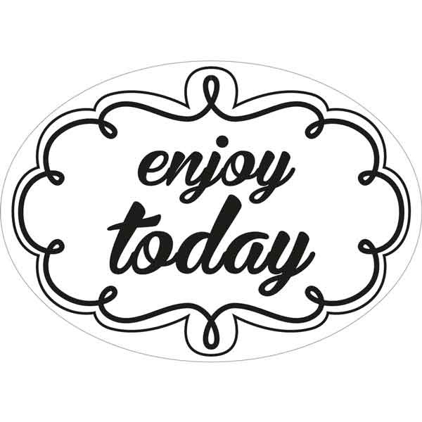 """RAYHER Seifenlabels """"enjoy today"""""""