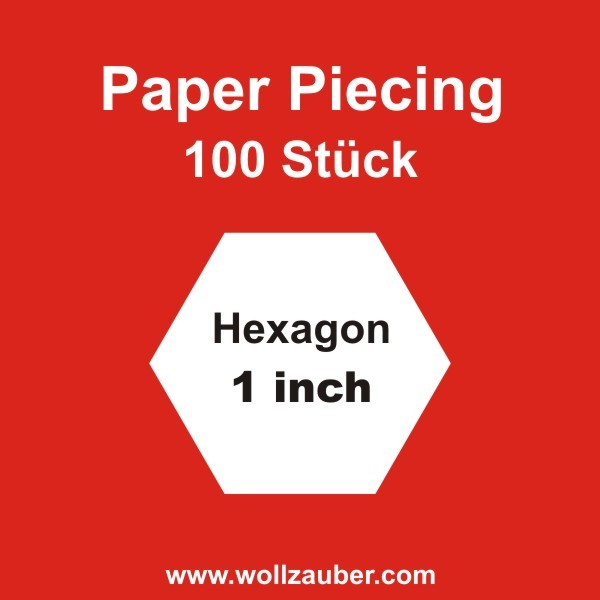 Templates Paper Hexagon 1,0 inch, 100 St.