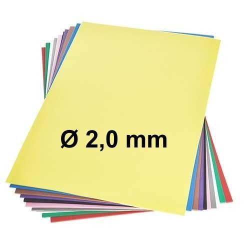Moosgummiplatten Ø 2,0 mm, 30x45 cm