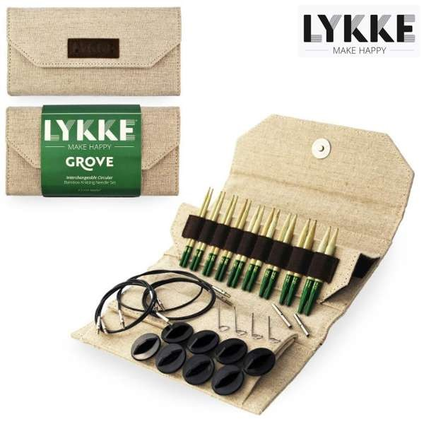 LYKKE Rundstrick-Set GROVE Jute 3,5-inch Nadeln Stricknadel