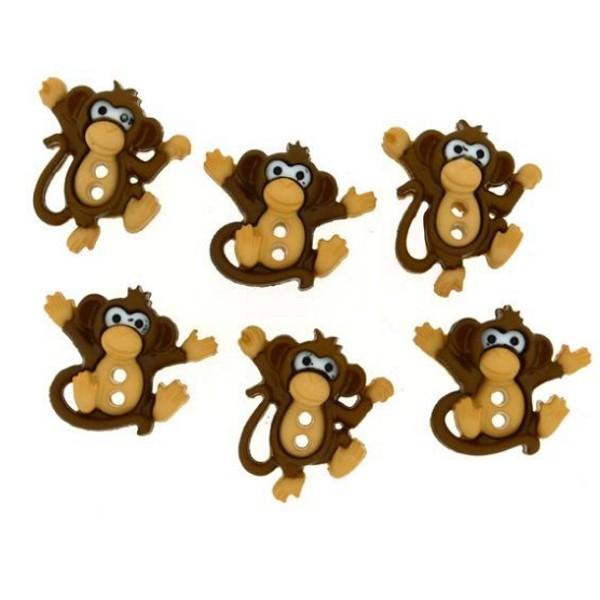 Dress it up Knöpfe, Affen - Sew Cute Monkeys