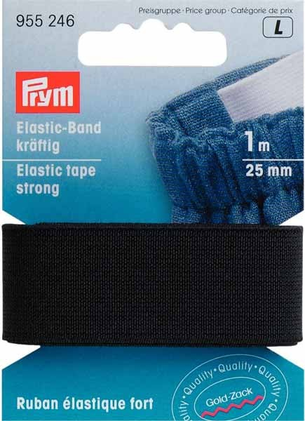 Elastic Band kräftig 25mm schwarz 1m