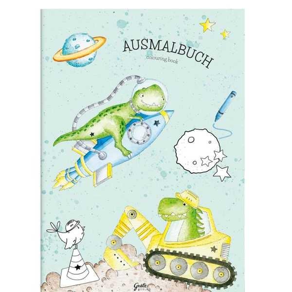 Malbuch Kleiner Dino DIN A4, 12 Seiten