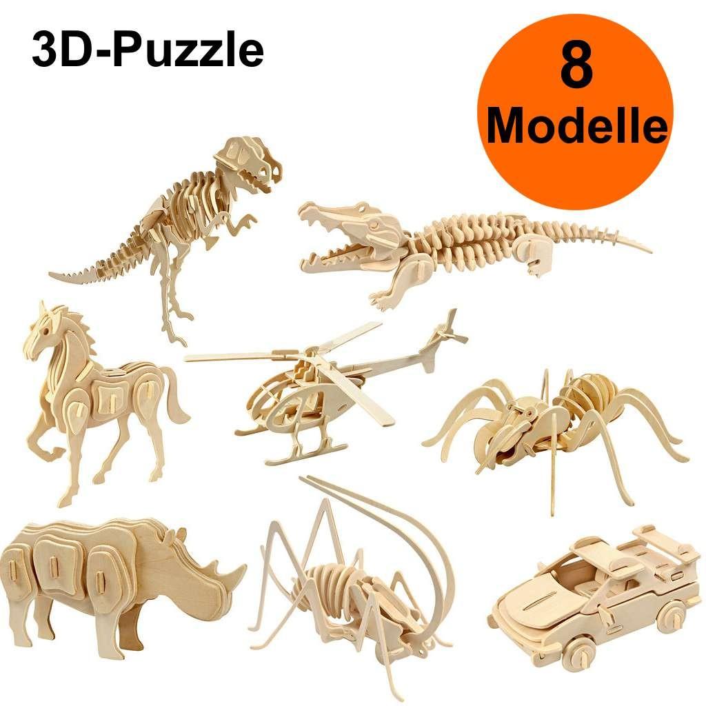 3D-Holzpuzzle, Holzbausätze