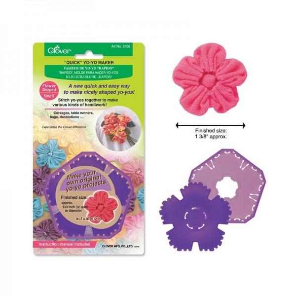 """CLOVER Jo-Jo-Schablone """"Rapido"""" Flower Shape, small 8706"""