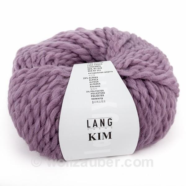 Lang Yarns Kim - Klassisches, voluminöses Schnellstrickgarn in butterweicher Qualität. Geeignet für alle warmen, kuscheligen Strickmodelle.