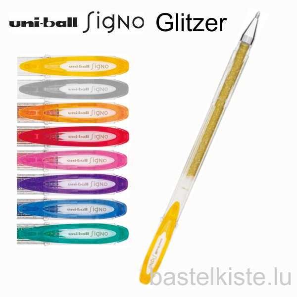 Gelroller UB SIGNO UM-120 Sparkling, Glitter, Linienbreite: Ø 0.6 mm