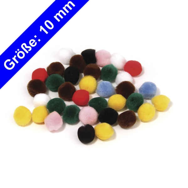 Rayher Pompons 10mm 76511 wollzauber