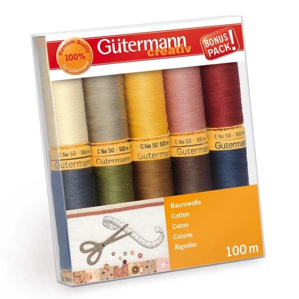 Gütermann 734521 Col. 3 Baumwollfaden Set
