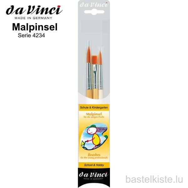 Da Vinci 3-teiliges Malpinsel für die jungen Profis, Serie 4234