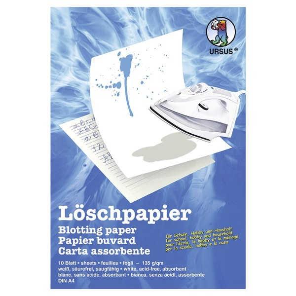 Löschpapier 135g/m² A4, 10 Blatt weiß