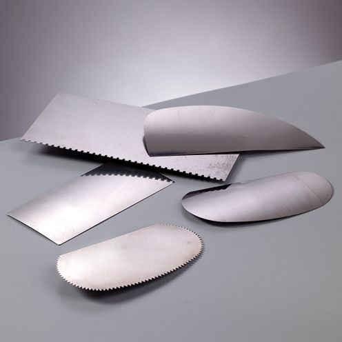 Metallspachtelset 5-teilig aus Metall