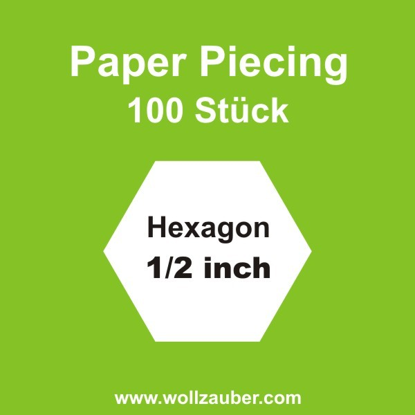 Templates Paper Hexagon 0,5 inch