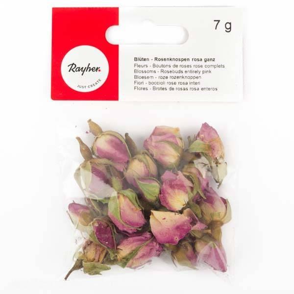 Blüten - Rosenknospen rosa ganz 7g