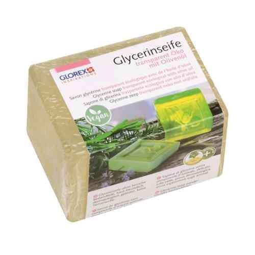 Glycerinseife, Rohseife transparent ÖKO mit Olivenöl