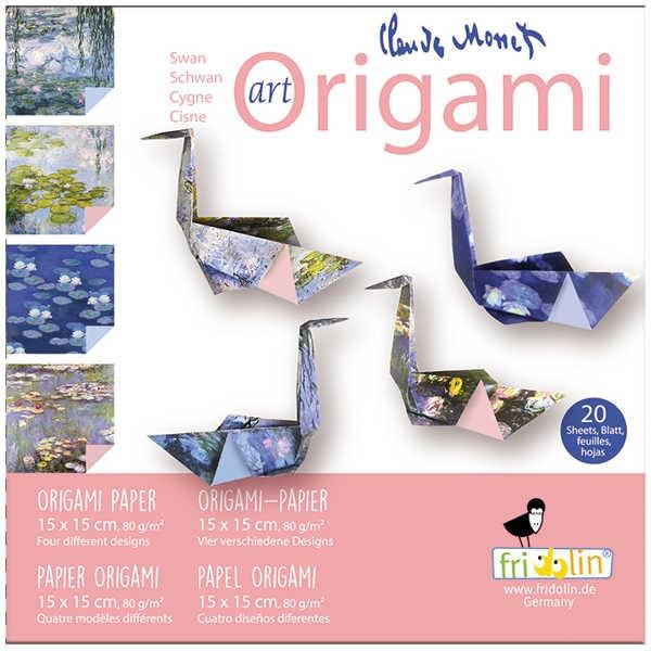 "Origami Faltblätter 80g/m² 15x15cm - 20 Blatt ""Monet"""