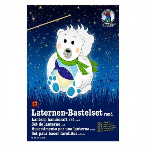 Laternen-Bastelset rund Ø 218mm, Eisbär