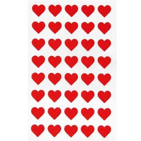 Filzsticker, Herzen klein in rot, 40 Stück