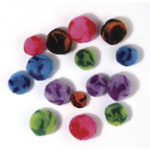 Pompons Candy, 100 Stück, Farben + Größen sortiert