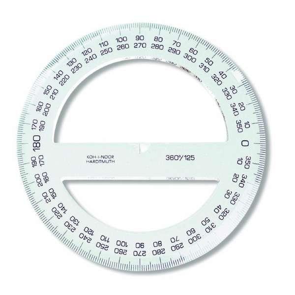 Kreislineal, Winkelmesser 360°