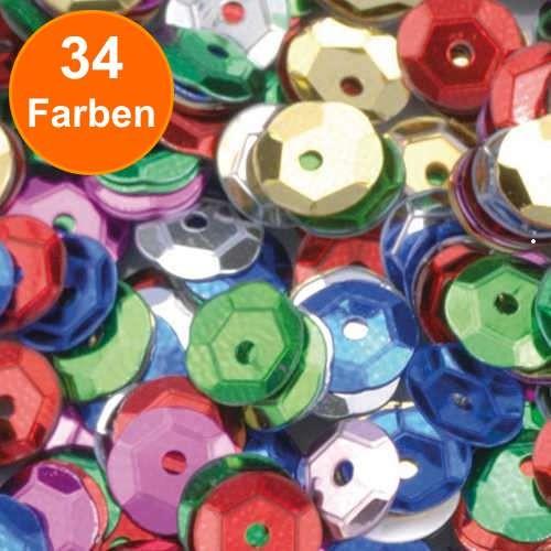 Pailletten, rund gewölbt, 6 mm, 40g