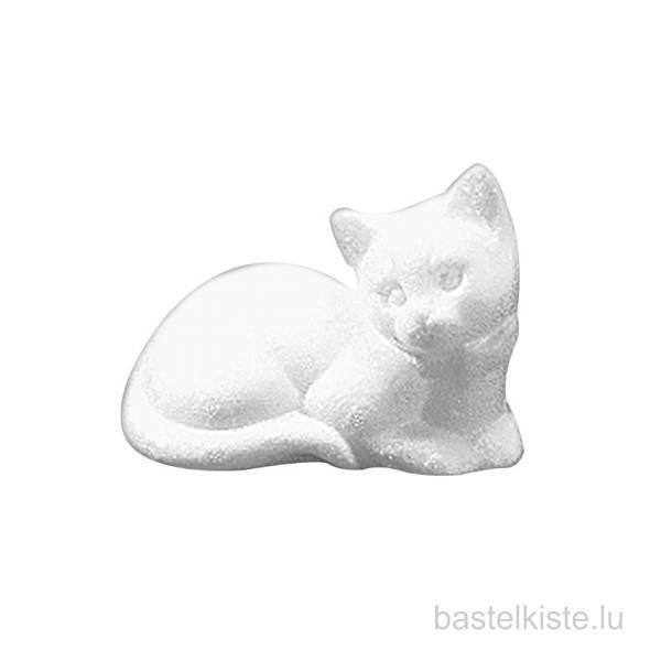 Styropor-Katze liegend 14cm