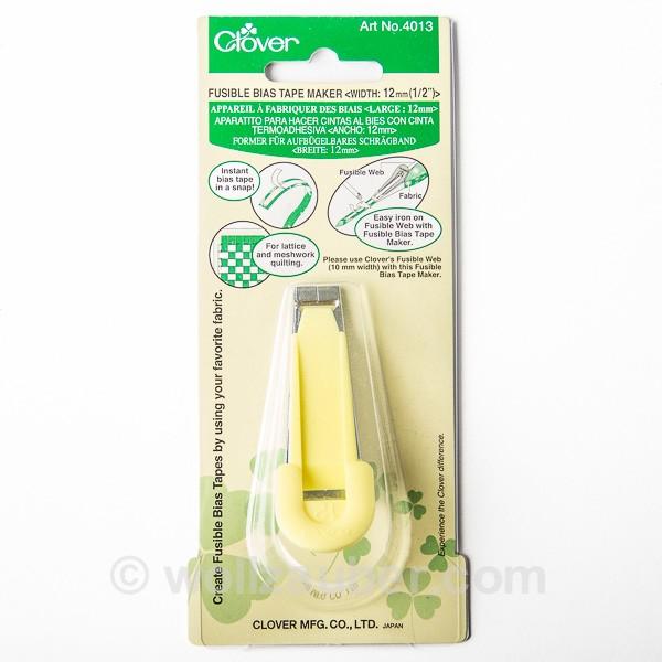 """12mm (1/2"""") Schrägbandformer für aufbügelbares Schrägband CLOVER 4013"""