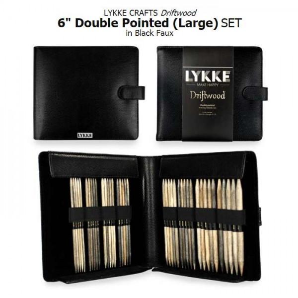 LYKKE BLACK Double-point Stricknadel-Set 6 inch large