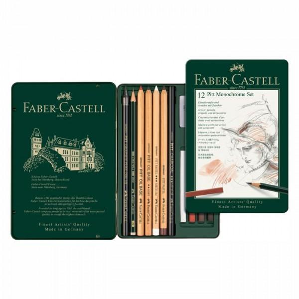 Faber Castell Pitt Monochrome Set - 12 teillig